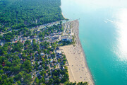 Grand Bend Beach from the skies  GB3