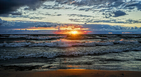 Lake Huron Sunset Splash