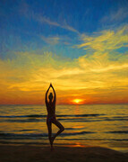 Yoga at Sunset  SS56